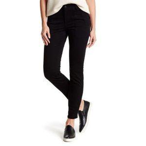 NEW Vince Black Zip Ankle Skinny Military Pants 30